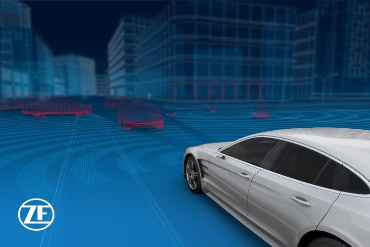 360 度ビューを可能にする ZF のセンサー・アーキテクチャー