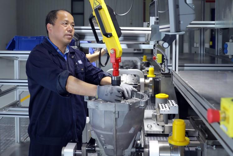Prototypen-Montage ZF 8HP in Shanghai