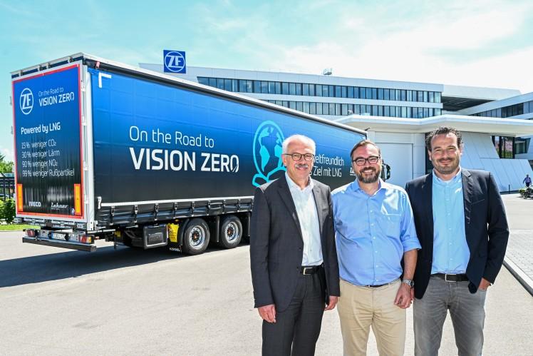 Gemeinsam für grüne Routen: ZF, IVECO und Lakner Spedition setzen LNG-Trucks ein