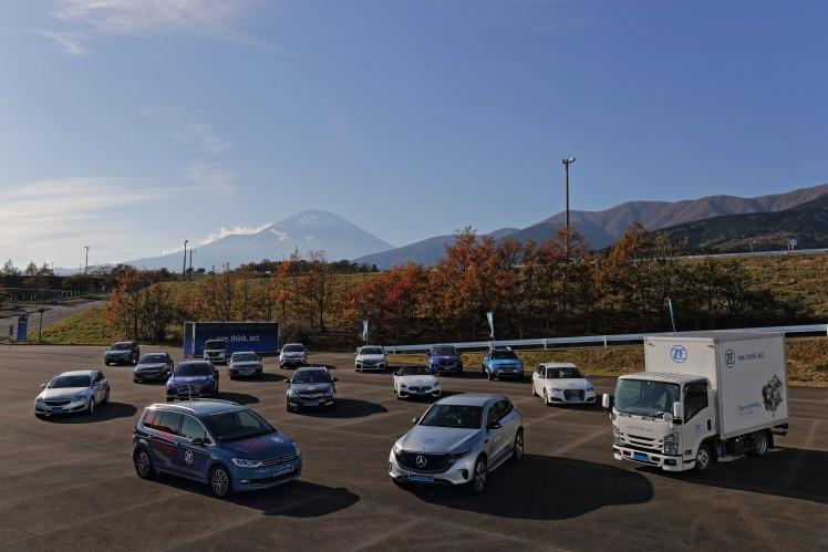 ZFジャパン、自動運転や電動化に向けた先端技術・製品を公開