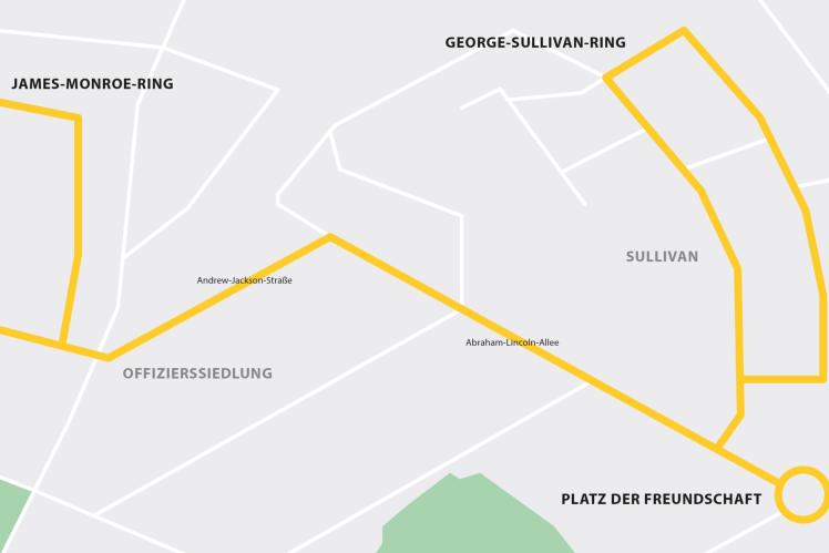 Geplante RABus-Strecke in Mannheim.