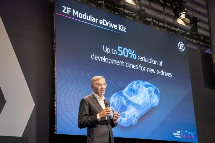ZF CEO Wolf-Henning Scheider presented the all-new Modular eDrive Kit