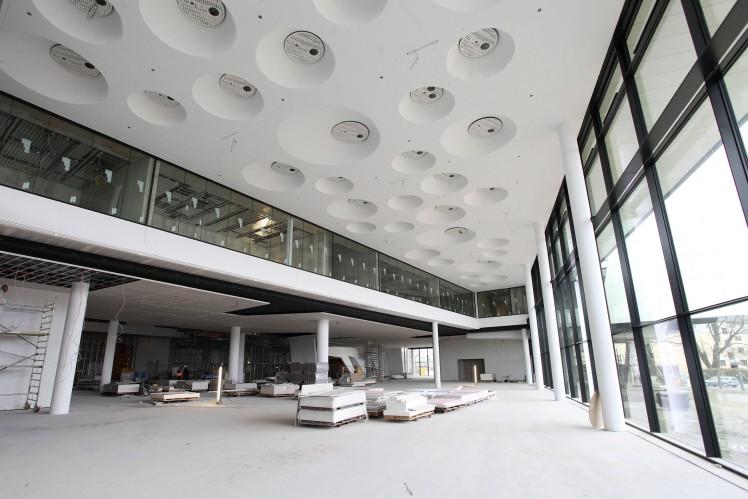 Ausstellungsfläche im Foyer ZF Forum