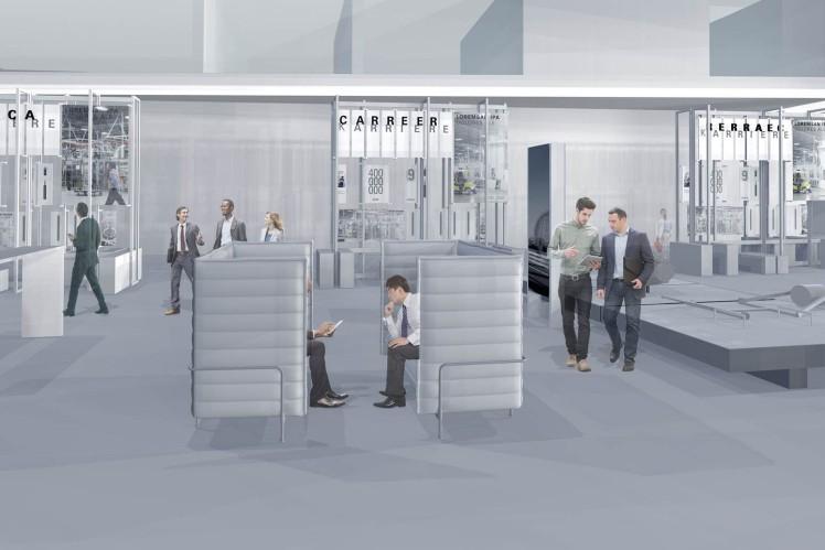 Simulation der Ausstellung im ZF Forum - 1