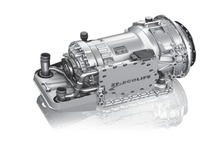 Das bewährte 6-Gang-Automatgetriebe EcoLife eignet sich für Eingangsdrehmomente bis 2.300 Nm.