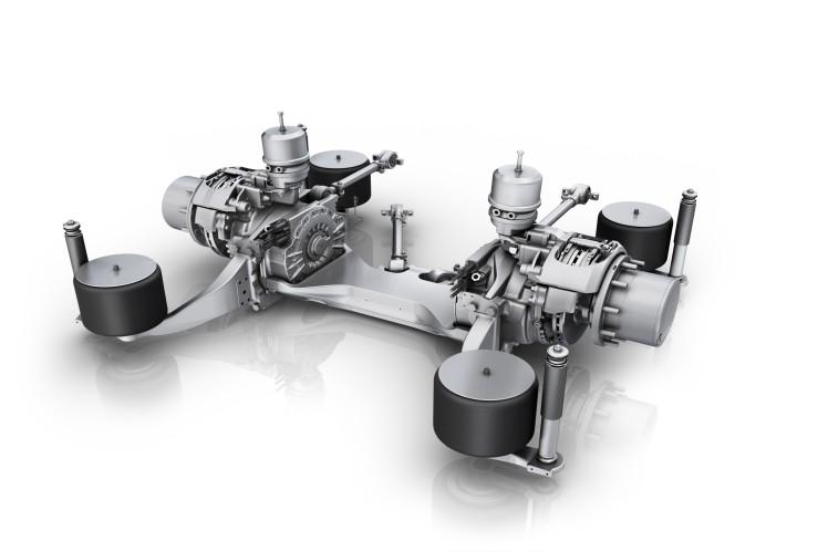 Bewährte Systemkompetenz: ZF bietet die AVE 130 im Paket mit Wechselrichter, Fahrsteuerung und der gesamten Leistungselektronik.