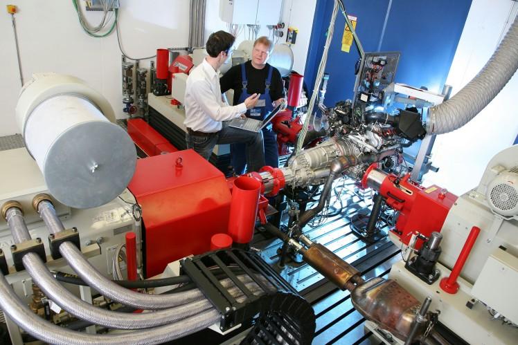 Prüfstand im Forschungs- und Entwicklungszentrum in Friedrichshafen