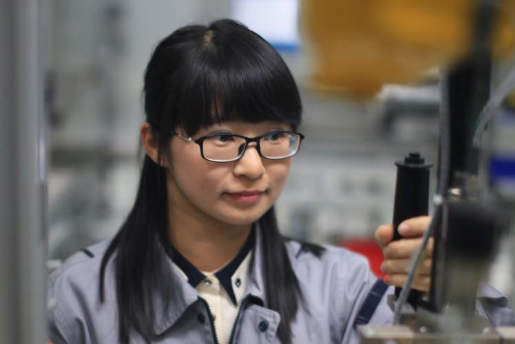 Mitarbeiterin von ZF in China