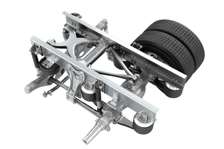 Twin Rear Axle Suspension