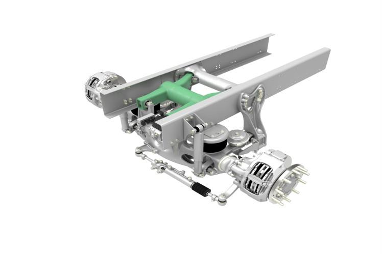 Liftable Leading Axle